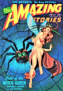 PULP MAGAZINE COVER - AMAZING STORIES, JULY 1946