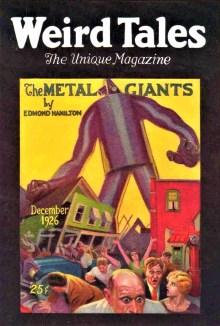 PULP MAGAZINE COVER - WEIRD TALES, DECEMBER 1926