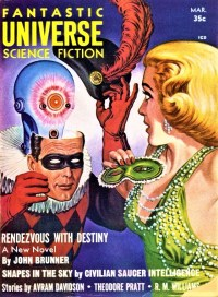 PULP MAGAZINE COVER - FANTASTIC UNIVERSE, MARCH 1958