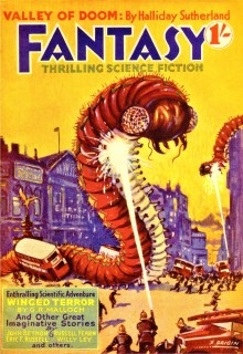PULP MAGAZINE COVER - FANTASY THRILLING SCIENCE FICTION, JANUARY 1939