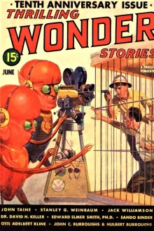 PULP MAGAZINE COVER - THRILLING WONDER STORIES, JUNE 1939