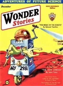 PULP MAGAZINE COVER - WONDER STORIES, DECEMBER 1931