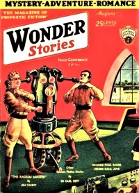 PULP MAGAZINE COVER - WONDER STORIES, AUGUST 1930