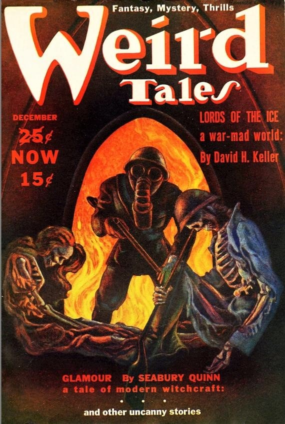 PULP MAGAZINE COVER - WEIRD TALES, DECEMBER 1939