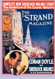 THE STRAND MAGAZINE COVER - SUSSEX VAMPIRE SHERLOCK HOLMES JANUARY 1924