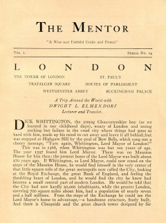 THE MENTOR - LONDON - 1913