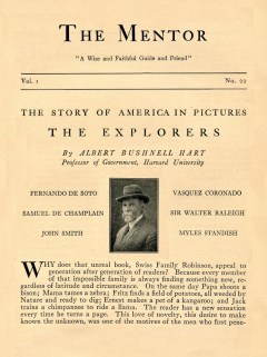 THE MENTOR - THE STORY OF AMERICA IN PICTURES - THE EXPLORERS - 1913