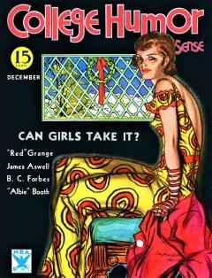 COLLEGE HUMOR SENSE MAGAZINE - December 1933