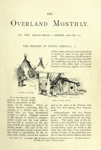 THE OVERLAND MONTHLY - March 1892