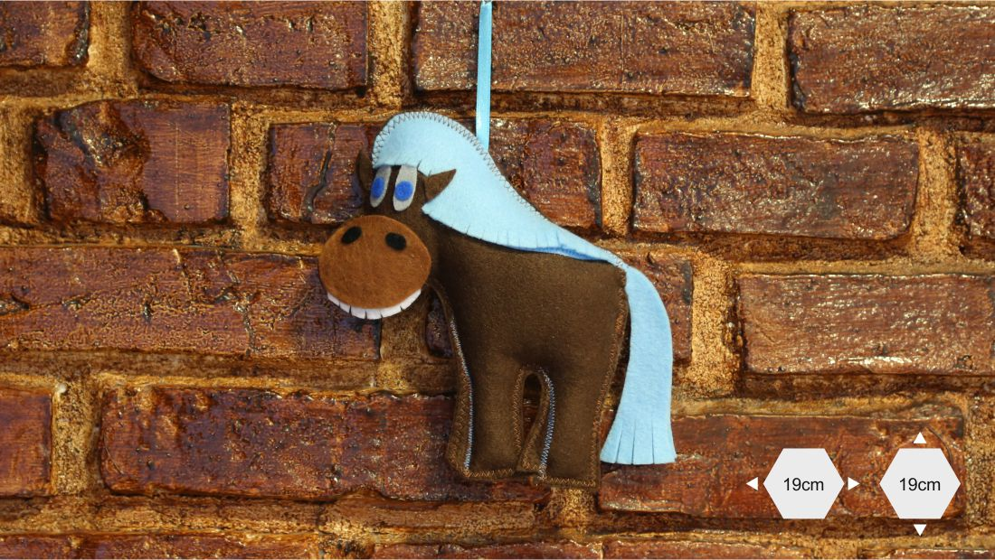 Maskotki z filcu - Koń