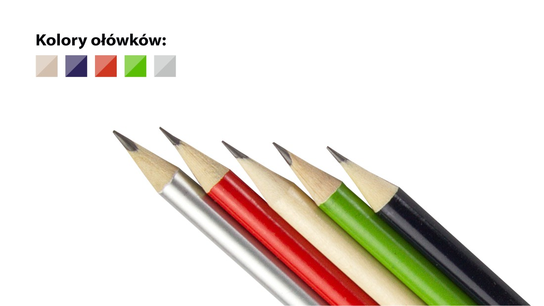 Ołówki drewniane z nadrukiem