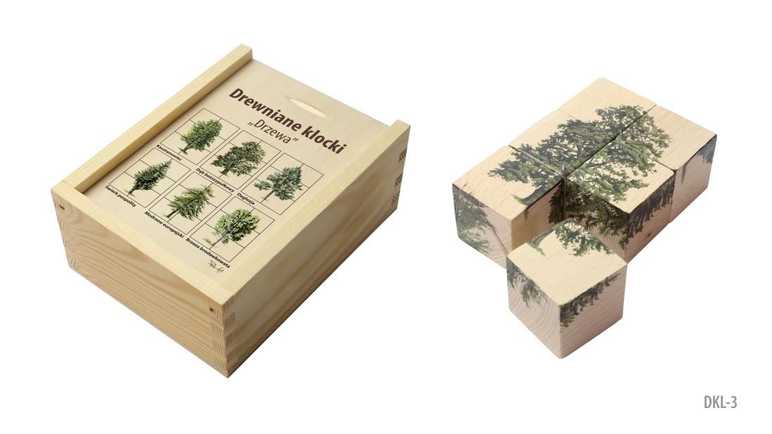 DKL-3 (Drewniane klocki - ukladanka przyrodnicza)