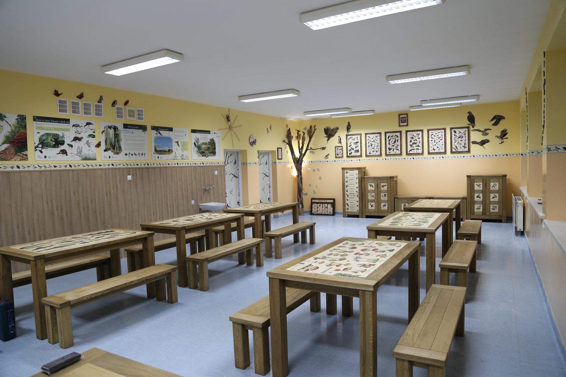 Izby edukacyjne lesne - sale przyrodnicze, wystroj wnetrz - ZS Dargin (1)