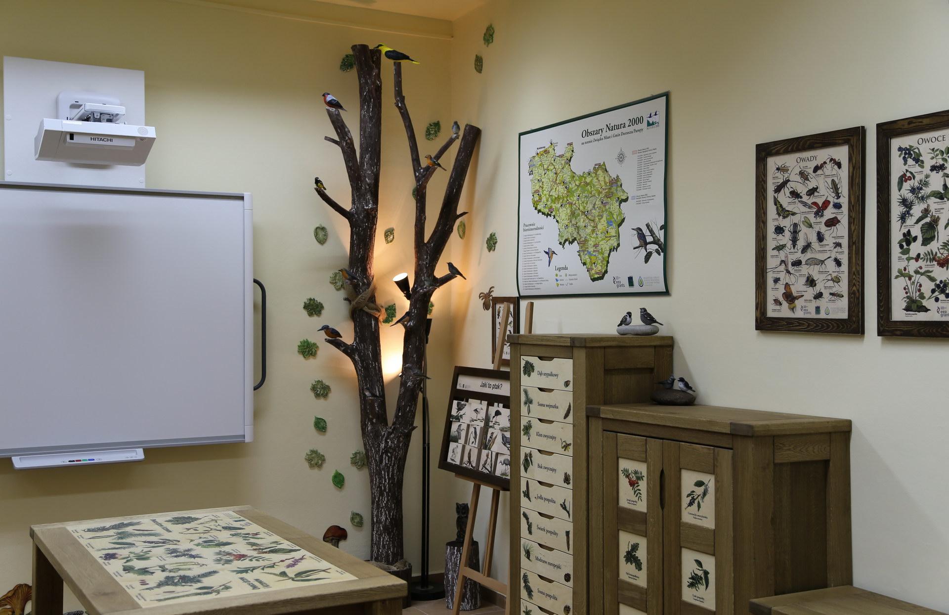 Izby edukacyjne lesne - sale przyrodnicze, wystroj wnetrz - ZS w Ustroniu Morskim (2)