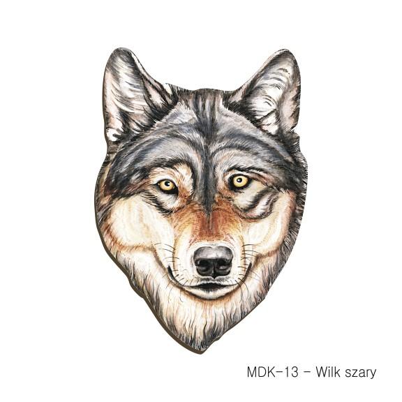 MDK-13 - Wilk szary (magnesy drewniane ksztalty)