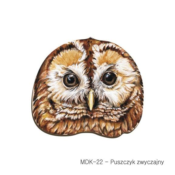 MDK-22 - Puszczyk zwyczajny (magnesy drewniane ksztalty)