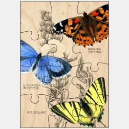 Puzzle drewniane - Motyle 2