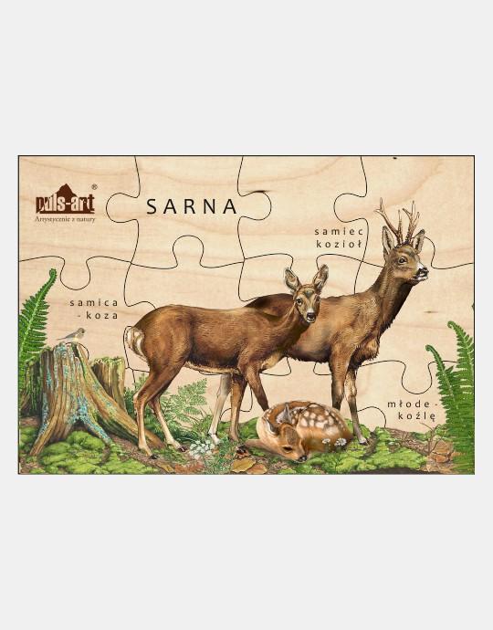 Puzzle drewniane - Rodzina saren