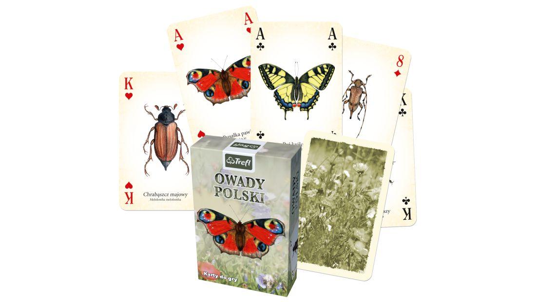 Karty 55szt - gry karciane - TREFL - Owady Polski - 01