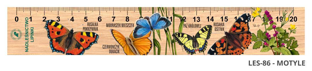 LES-86 - Motyle (linijka drewniana)