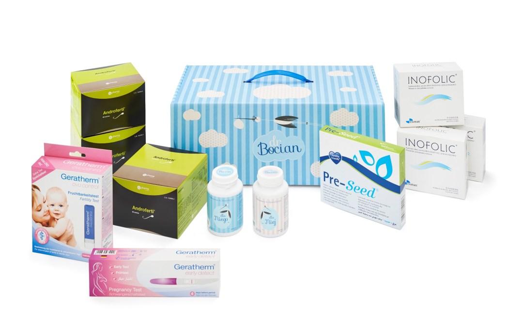 Zestaw dr Bocian – produkty medyczne wspomagające ciążę
