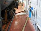 Food oil rail tank car mixing