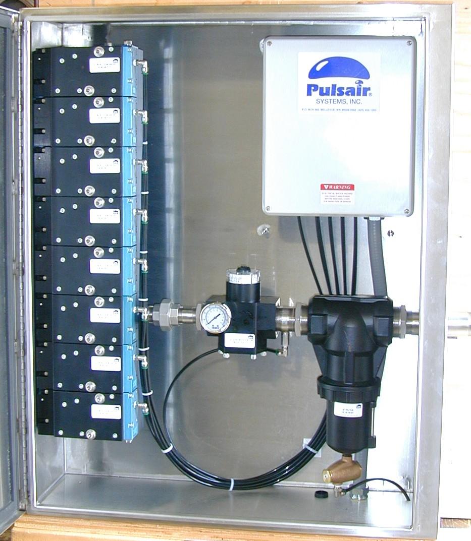 Interior of valve enclosure