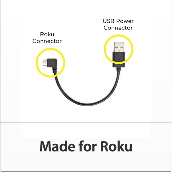 TVPower Mini USB Cable for Powering Roku Streaming Stick