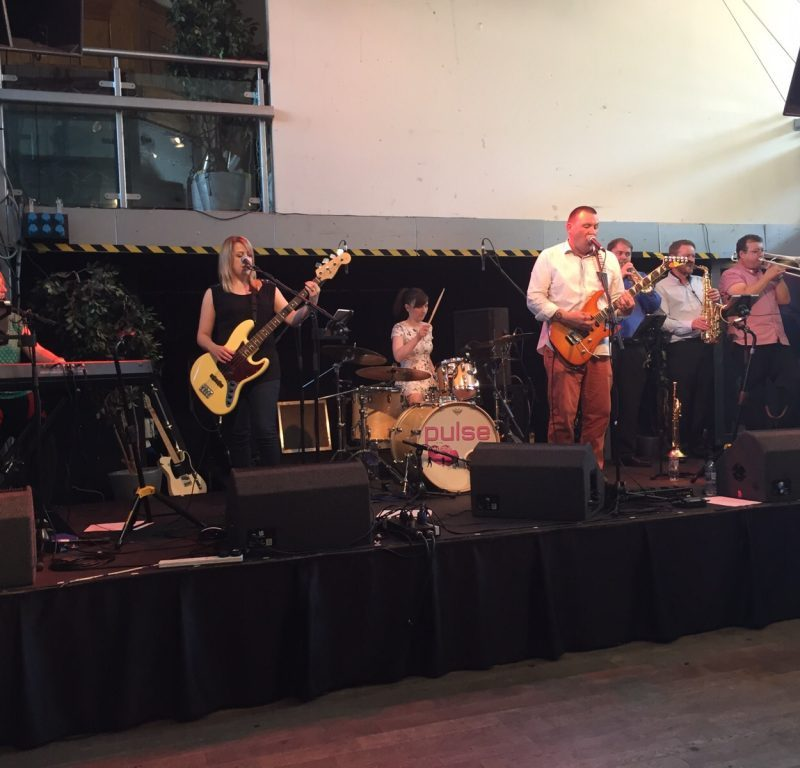 Pulse Wedding Band Showcase Ferry Glasgow 16-08-2015 band on stage