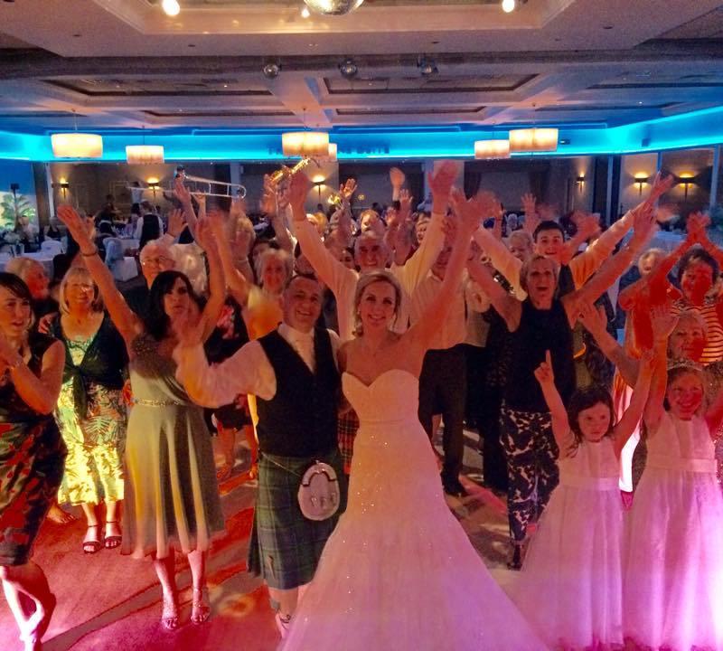 pulse wedding band glasgow & ayrshire group shot seamill 24-05-15