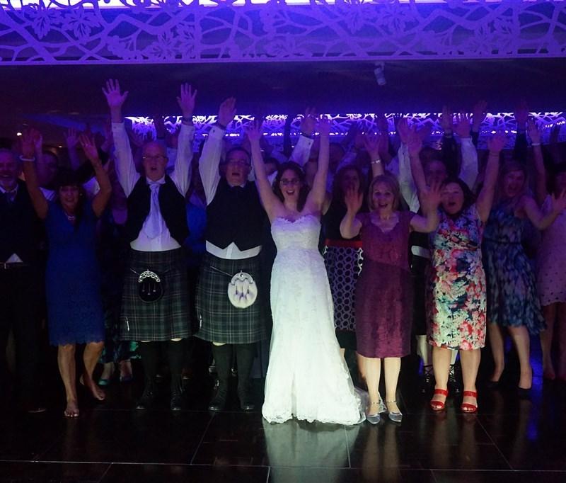 Pulse wedding band at Marriott Dalmahoy near Edinburgh