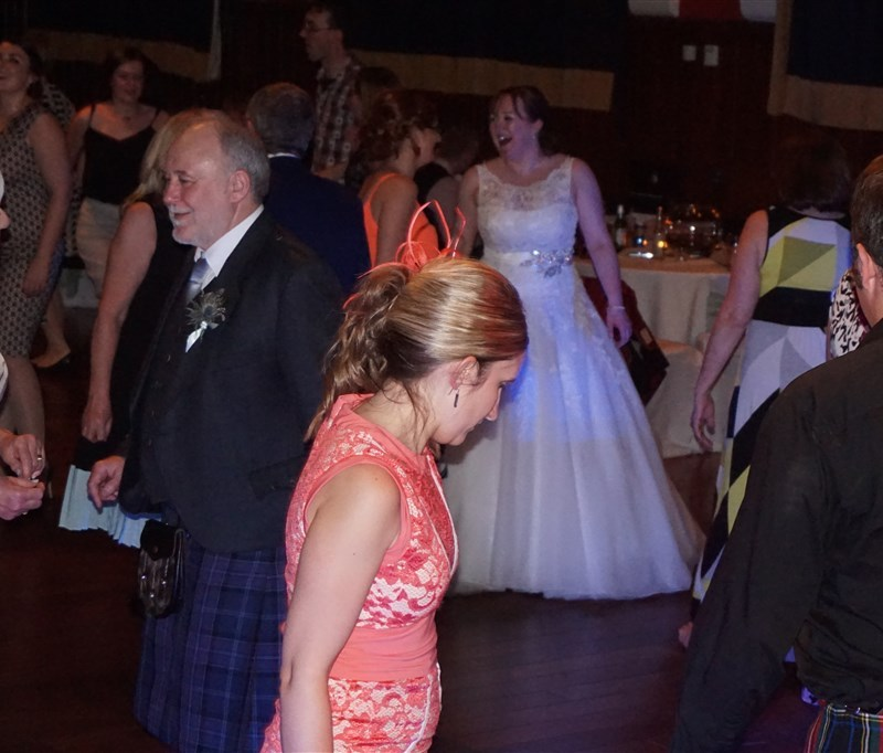 Pulse wedding bands Glasgow & Ayrshire in Rutherglen Town Hall Glasgow people dancing on busy dance floor