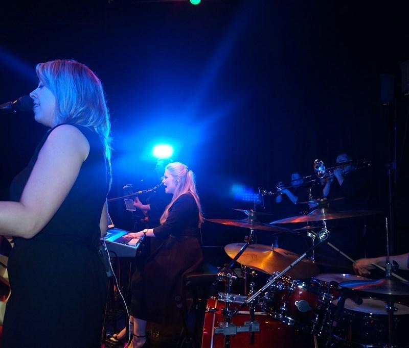 Pulse wedding bands Glasgow & Ayrshire on stage at Rutherglen Town Hall Glasgow near Glasgow