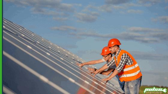 Solar panels on a Bundaberg Farm