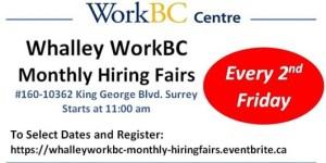 Whalley Job Fair