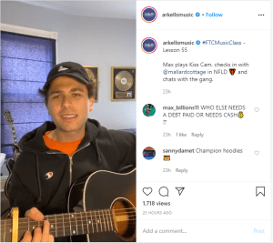 Arkells: IG Live Flatten The Curve Music Classes