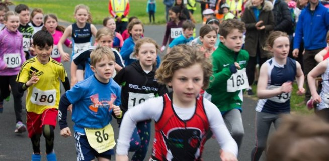 Runners at the Pulse Junior Duathlon.
