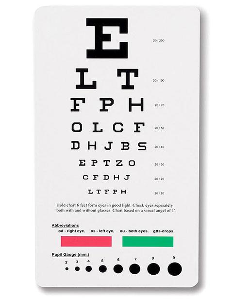 Buy Prestige Snellen Pocket Eye Chart for $5.95