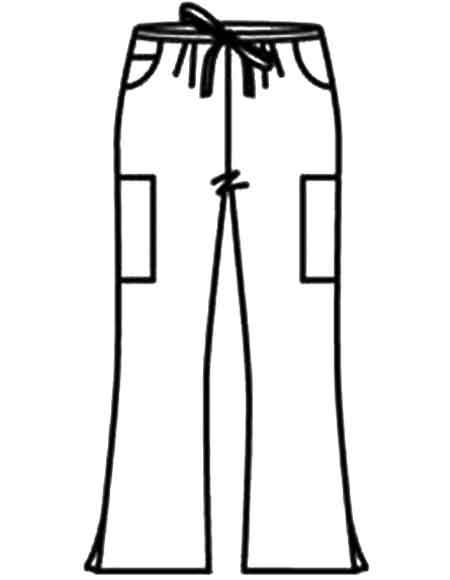 Buy Landau Womens Flare Leg Cargo Medical Scrub Pants for