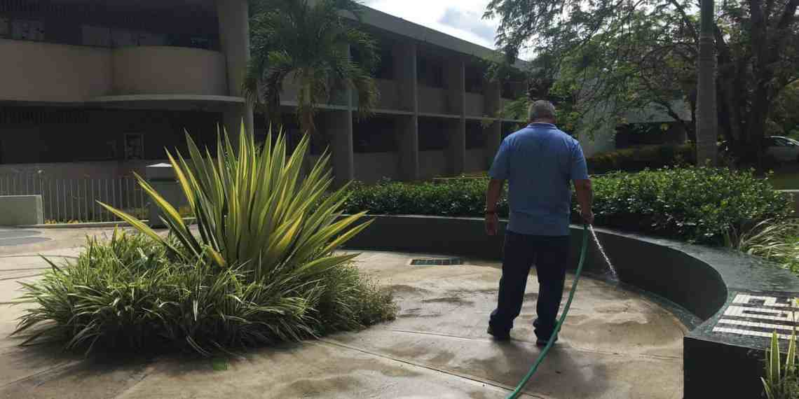 Continúa limpieza en el RUM tras una semana de iniciar clases