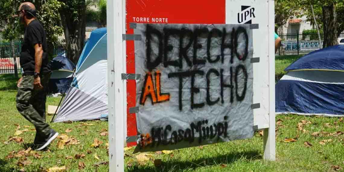 Estudiantes dormirán frente a la vivienda riopedrense Torre del Norte