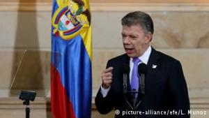 El presidente colombiano, Juan Manuel Santos, impulsor de los acuerdos de La Habana. (Pie de foto e imagen desde portal www.dw.com)