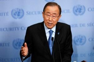 El secretario general de la ONU, Ban Ki-moon, participa durante una conferencia de prensa en la sede de la ONU en Nueva York, el 9 de septiembre. Foto Xinhua (Pie de foto e imagen desde portal www.jornada.unam.mx)