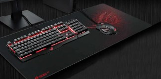 Mouse gamer y teclado con mouse pad