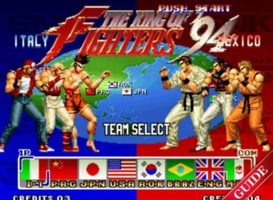 The King of Fighters 94 team select