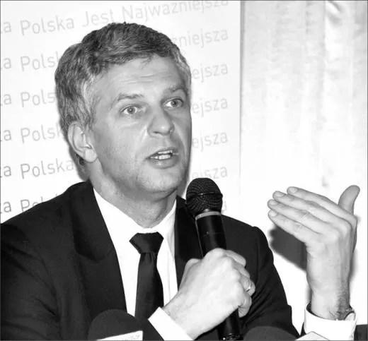 Paweł Poncyljusz podczas czerwcowego spotkania z mieszkańcami powiatu wejherowskiego.