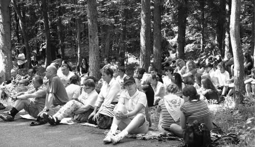 W Piaśnicy był czas na modlitwę i odpoczynek.
