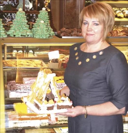 Sabina Grzenkowicz w swojej cukierni.