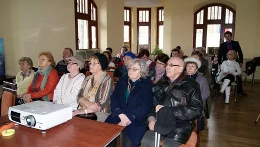 Jak zwykle na wykładach Wejherowskiego Uniwersytetu Trzeciego Wieku, studenci z zainteresowaniem słuchali prelegentów.