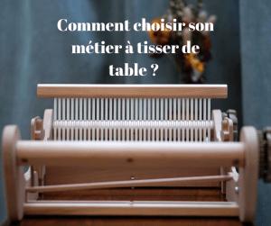 métier à tisser de table brut